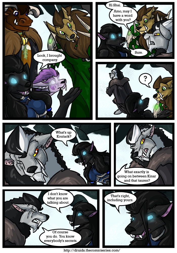 Druids Comic - An Adult Furry Webcomic - Afraid of the Circle